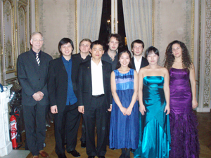 The finalist with Gustav Alink